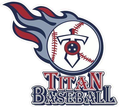 Twin City Titans Baseball Custom Baseball Helmet Decals