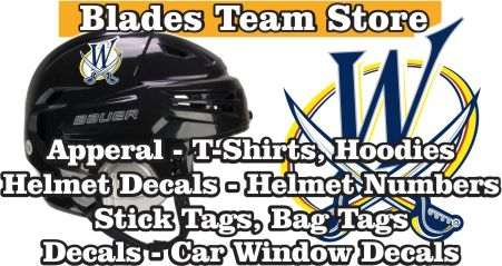 Wheatfield Blades Hockey Association Team Store Banner