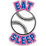 Baseball Softball Car Decals & Stickers