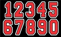 BGRA Bearcats Baseball  Club Custom Helmet Number Sheets
