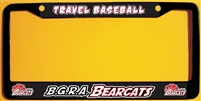 BGRA Bearcats Baseball Club Custom License Metal Plate Frame