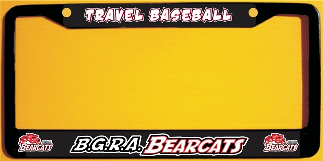 Bgra Bearcats Baseball Custom Metal License Plate Frames