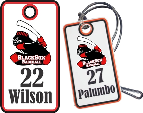 Murfreesboro BlackSox Youth Baseball & Softball Custom Bag Tags