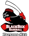 Murfreesboro Blacksox Youth Baseball and Softball Custom Stickers for your Car Window