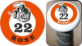 Camelot Knights Youth Baseball Custom Bat Knob