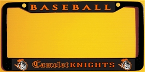 Camelot Knights Youth Baseball Custom License Plate Frame