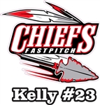Chiefs Fastpitch Custom Car Sticker