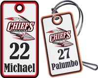 Connetquot Chiefs Fastpitch Custom Baseball Bag Tags