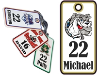 Deerfield Bulldogs Football & Cheer Custom Football Bag Tags