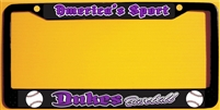 DHS Dukes Baseball Custom Metal License Plate Frames you can customize.