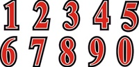 Custom Football Helmet Number Sheets
