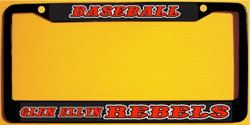 Glen Ellyn Rebels Baseball Custom Metal License Plate