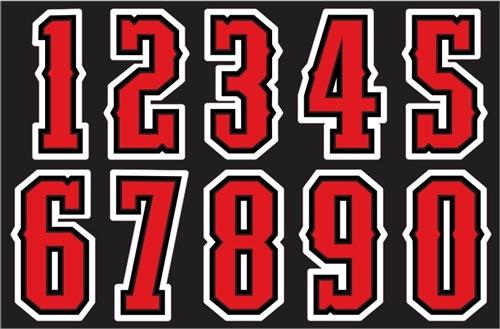 Glen Ellyn Rebels Softball Helmet Numbers Decals Amp Sticker
