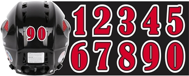 Homewood Flossmoor Vikings Hockey Custom Helmet Number Sheets