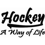 Hockey a Way of Life - Hockey Decal
