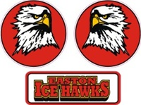 Easton Ice Hawks Helmet decal | front logo