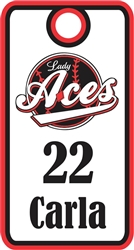 Lady Aces Softball Baseball Bag Tags