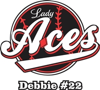 Lady Aces Softball Custom Baseball Decals | Stickers for your Car Window