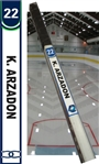 Central Kentucky Youth Hockey Helmet Stick tags
