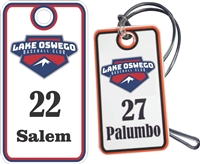 Lake Oswego Baseball Club Custom Baseball Bag Tags