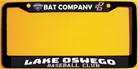 Lake Oswego Baseball Club Custom License Metal Plate Frame