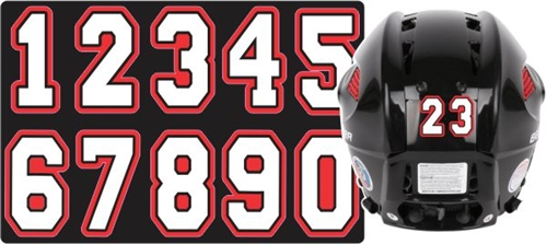 Manchester Flames Helmet Number Decals Amp Stickers Tagsports