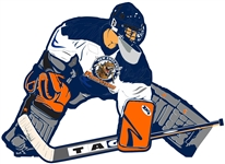 NE Predator Goalie Car Decal