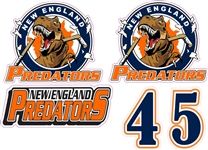 NE Predator Side Helmet decals | Individal Number