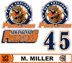 NE Predator Side Helmet decals | Individal Number | Stick Tag