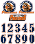 NE Predator Helmet Decal | Numbers
