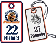 New England Predators Custom Hockey Bag Tags
