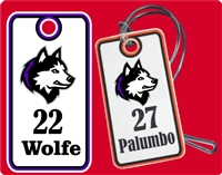 New England Huskies Hockey Club Custom Hockey Bag Tags