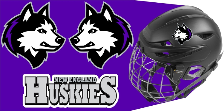 New England Jr Huskies Hockey Club Custom Helmet Decals - Motorcycle helmet decals