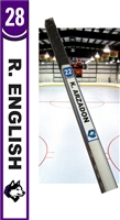 New England Huskies Custom Hockey Stick TAG