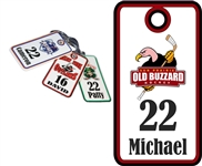 Old Buzzard Hockey Custom Bag Tags