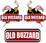 Custom Old Buzzards Hockey Helmet Decals