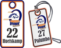 Orangecrest Pony Baseball Custom Baseball Bag Tags