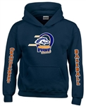 Orangecrest Pony Baseball Long Sleeve Navy Custom Hoodies