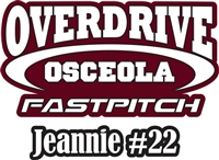 OSCEOLA Overdrive Fastpitch | Softball |  Baseball Custom Baseball Decals | Stickers for your Car Window