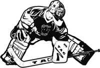 Outlaw Hockey Car Window Decal Goalie