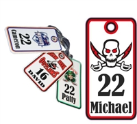 Palm Bay Pirates Custom Football Custom Hockey Bag Tags