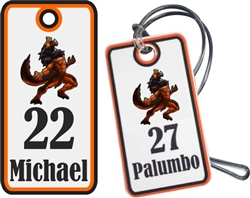 Pinellas Predators Custom Football Bag Tags