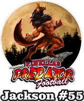 Pinellas Predators Custom Football Car Windows Stickers