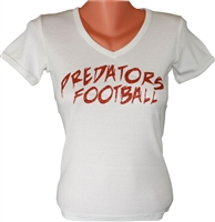 Pinellas Predators Custom Glitter Women's V Neck Tee