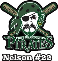 Port Washington Pirates Youth Baseball Custom Car Windows Stickers