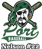 Port Washington Pirates Youth Baseball  Custom Baseball Decals | Stickers for your Car Window