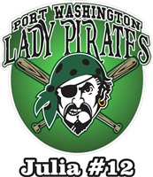 Port Washington Pirates Youth Softball | Fastpitch Custom Baseball Decals | Stickers for your Car Window