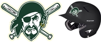 Port Washington Pirates Custom Baseball Batting Helmet Decals