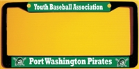 Port Washington Pirates Baseball Custom License Metal Plate Frame