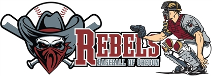 Rebels Baseball of Oregon Car Window Decal #3
